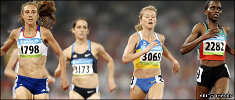 Dobriskey in the 1500m final in Beijing