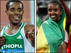Ethiopians Bekele and Dibaba