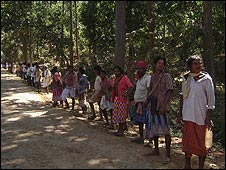 Human chain in Orissa