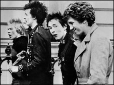 The Sex Pistols in London in 1977