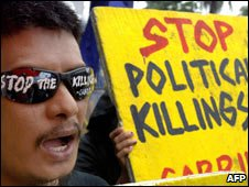 Leftists' protest against extra judicial killings Aug 06