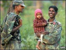 Former Maoist fighters in Nepal