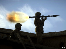 An RPG fired by Pakistani soldier