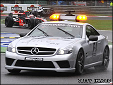 The safety car in action at the Italian Grand Prix