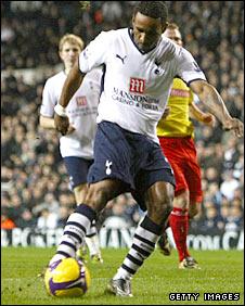 Jermain Defoe hits Spurs' second against Stoke