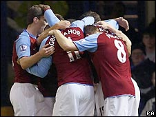 Emile Heskey scored for Villa with a crisp strike