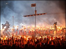 Thousands celebrate Up Helly Aa