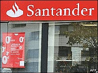 Sucursal del banco Santander en Madrid