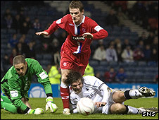 Steven Pressley, Dani Mallo and Rangers' Steven Davis