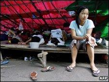 Chin woman, refugee camp, Malaysia 2007