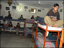 Orphaned children at a local boarding school