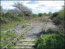 Portishead line cleared: pic Portishead Railway Group
