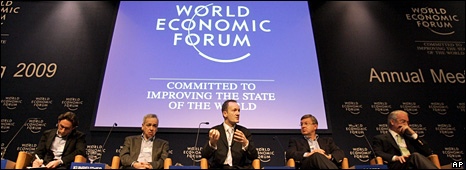 Steve Howard of The Climate Group addresses a session of the WEF (28 January 2009)