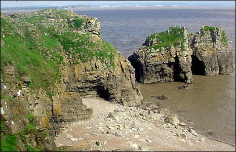 Cliffs around Flatholm
