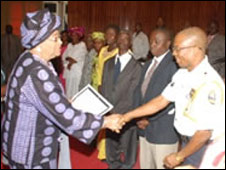 President Sirleaf and Richard Karyea [Photo courtesy of Liberian Government]