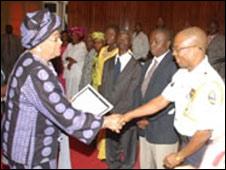 President Sirleaf and Richard Karyea [Photo courtesy of Liberian Government]