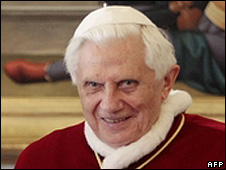Pope Benedict in Rome on 23/1/09