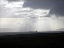 Orkney skyline and tanker
