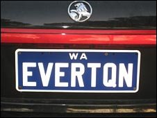 Licence plate in Joondalup soccer club