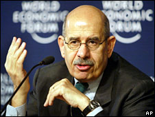 Mohammed ElBaradei (file image from January 2005)
