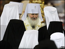 Patriarch Kirill at his investiture on 27 January 2009