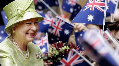 Britain's Queen Elizabeth ll in Sydney, Australia, on Commonwealth Day, 15 March 2006