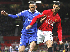Jose Bosingwa and Cristiano Ronaldo