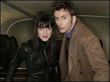 Michelle Ryan and David Tennant
