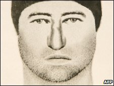 An artist's impression of one of the murder suspects