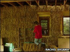 Rachel Shiamh's straw bale home