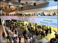 Crowds at Davos
