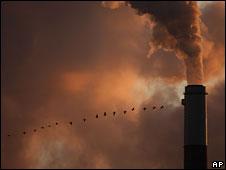 Smokestacks at a coal-fired power plant