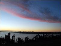 Lago Budi en el sur de Chile