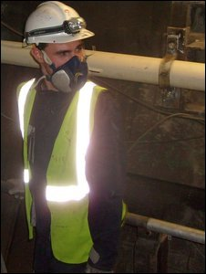 Eurotunnel repair worker