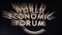 World Economic Forum sign, Davos