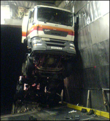 Lorry on ferry
