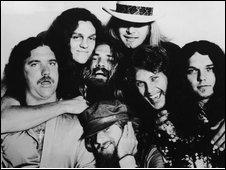 Lynyrd Skynyrd, with Billy Powell (left)  in 1976