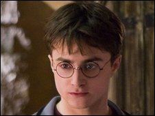 Daniel Radcliffe playing Harry Potter