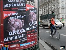Poster by the Anarchist Federation calling for the general strike in Paris on 29/1/09