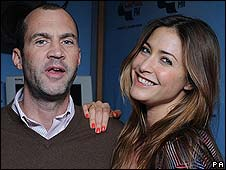 Johnny Vaughan and Lisa Snowden