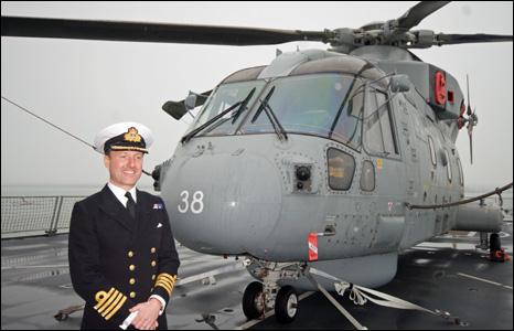 Royal Navy Captain onboard HMS Daring
