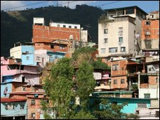 A shantytown in Caracas