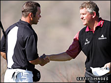 Paul Casey (left) and Colin Montgomerie (right)