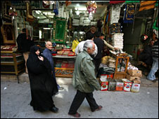 A market in the city of Najaf