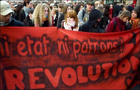 Manifestantes en Lyon