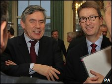 Gordon Brown and Stephen Carter, PA