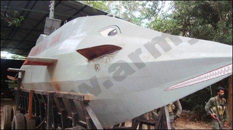 Submarine captured by Sri Lankan troops