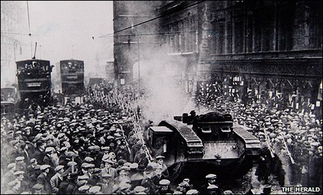 """""""Bloody Friday"""" in George Square"""