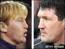 Stuart McCall and Mick Harford