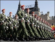 Russian military parade in Red Square - file picture